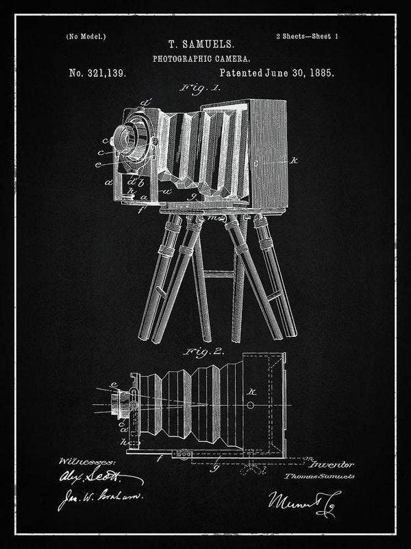 Vintage Camera Patent, 1885 - Art Print from Wallasso - The Wall Art Superstore