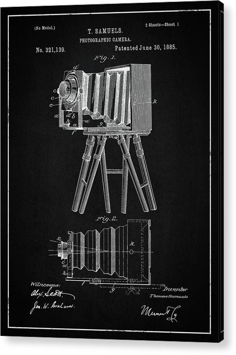 Vintage Camera Patent, 1885 - Acrylic Print from Wallasso - The Wall Art Superstore