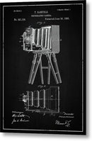 Vintage Camera Patent, 1885 - Metal Print from Wallasso - The Wall Art Superstore