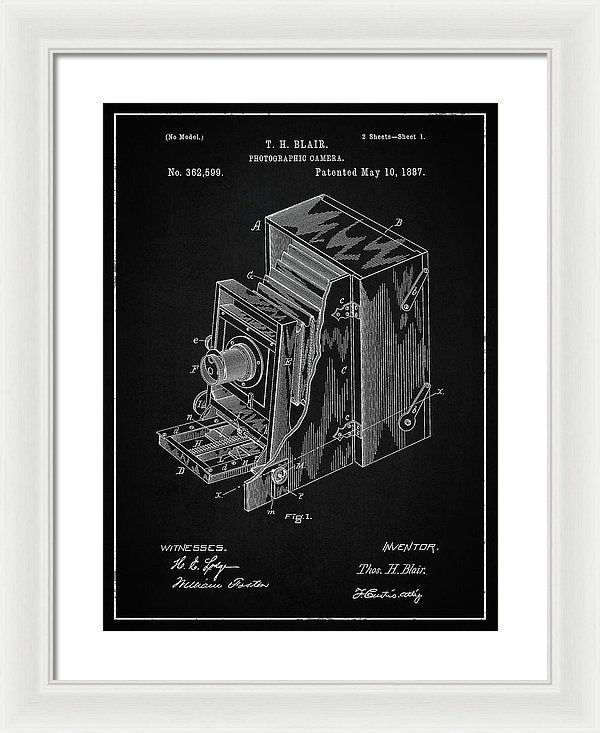 Vintage Camera Patent, 1887 - Framed Print from Wallasso - The Wall Art Superstore