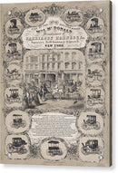 Vintage Carriage Advertising Poster, 1852 - Acrylic Print from Wallasso - The Wall Art Superstore