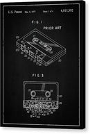 Vintage Cassette Tape Patent, 1977 - Canvas Print from Wallasso - The Wall Art Superstore