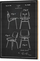 Vintage Chair Patent, 1947 - Wood Print from Wallasso - The Wall Art Superstore