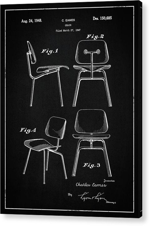 Vintage Chair Patent, 1947 - Acrylic Print from Wallasso - The Wall Art Superstore
