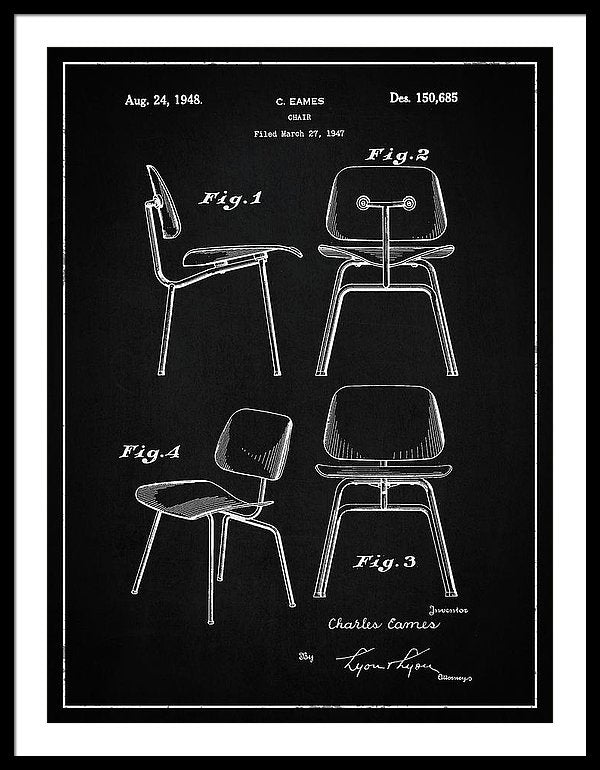 Vintage Chair Patent, 1947 - Framed Print from Wallasso - The Wall Art Superstore