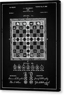 Vintage Chess Game Patent, 1899 - Canvas Print from Wallasso - The Wall Art Superstore