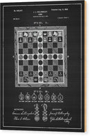 Vintage Chess Game Patent, 1899 - Wood Print from Wallasso - The Wall Art Superstore