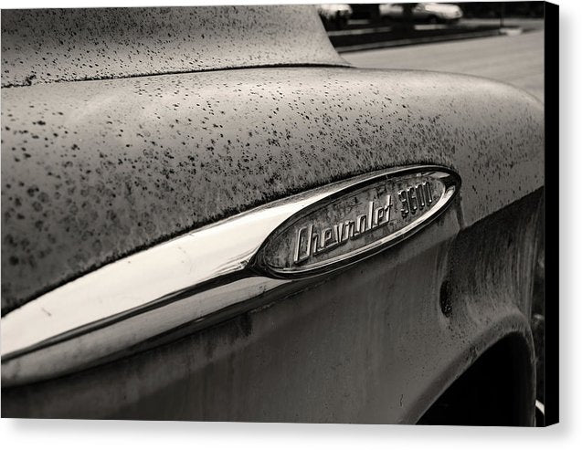 Vintage Chevrolet 3600 Pickup Truck Fender - Canvas Print from Wallasso - The Wall Art Superstore