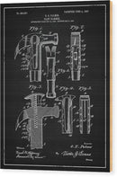 Vintage Claw Hammer Patent, 1907 - Wood Print from Wallasso - The Wall Art Superstore
