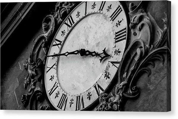 Vintage Clock Face On Tower - Canvas Print from Wallasso - The Wall Art Superstore