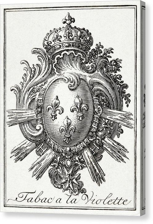 Vintage Coat of Arms Illustration, 1785 - Canvas Print from Wallasso - The Wall Art Superstore
