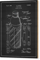 Vintage Cocktail Shaker Patent, 1930 - Wood Print from Wallasso - The Wall Art Superstore