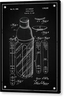 Vintage Cocktail Shaker Patent, 1930 - Acrylic Print from Wallasso - The Wall Art Superstore
