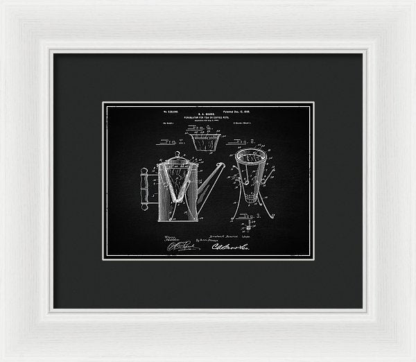 Vintage Coffee Percolator Patent, 1899 - Framed Print from Wallasso - The Wall Art Superstore