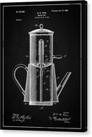 Vintage Coffee Pot Patent, 1899 - Canvas Print from Wallasso - The Wall Art Superstore