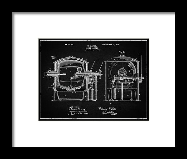 Vintage Coffee Roaster Patent, 1900 - Framed Print from Wallasso - The Wall Art Superstore