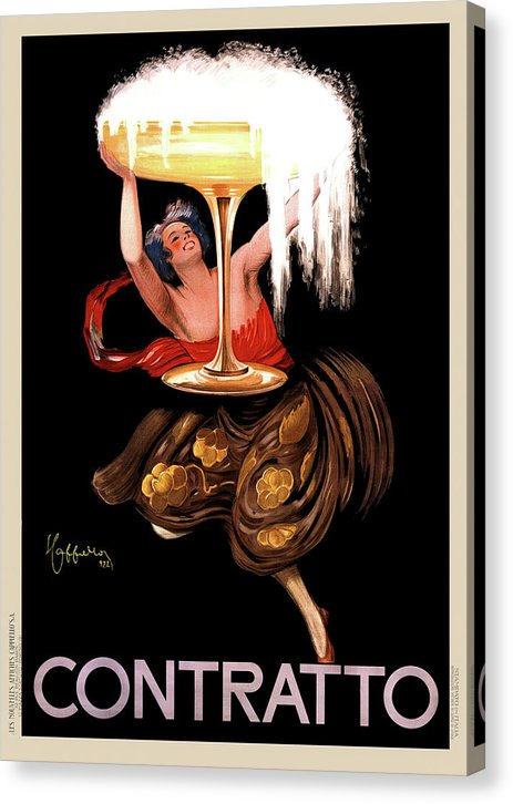 Vintage Contratto Sparkling Wine Poster, 1922 - Canvas Print from Wallasso - The Wall Art Superstore