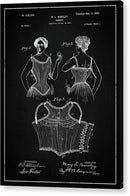 Vintage Corset Patent, 1899 - Acrylic Print from Wallasso - The Wall Art Superstore