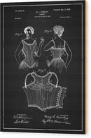 Vintage Corset Patent, 1899 - Wood Print from Wallasso - The Wall Art Superstore