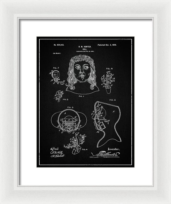 Vintage Doll Patent, 1899 - Framed Print from Wallasso - The Wall Art Superstore