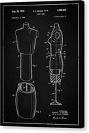 Vintage Dress Form Patent, 1970 - Canvas Print from Wallasso - The Wall Art Superstore