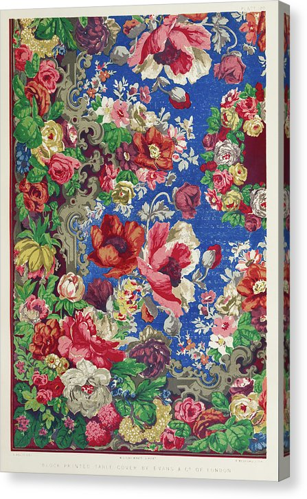 Vintage Floral Pattern - Canvas Print from Wallasso - The Wall Art Superstore