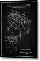 Vintage Foosball Table Patent, 1975 - Metal Print from Wallasso - The Wall Art Superstore