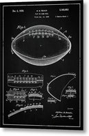 Vintage Football Patent, 1939 - Metal Print from Wallasso - The Wall Art Superstore