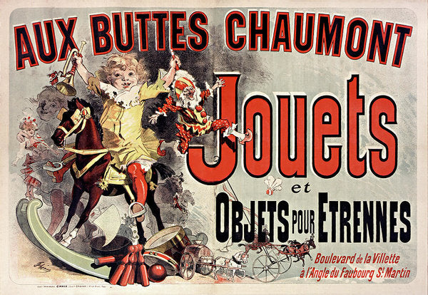 Vintage French Aux Buttes Chaumont Jouets Toy Poster, 1885 - Art Print from Wallasso - The Wall Art Superstore