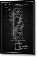 Vintage Gas Pump Patent, 1954 - Metal Print from Wallasso - The Wall Art Superstore