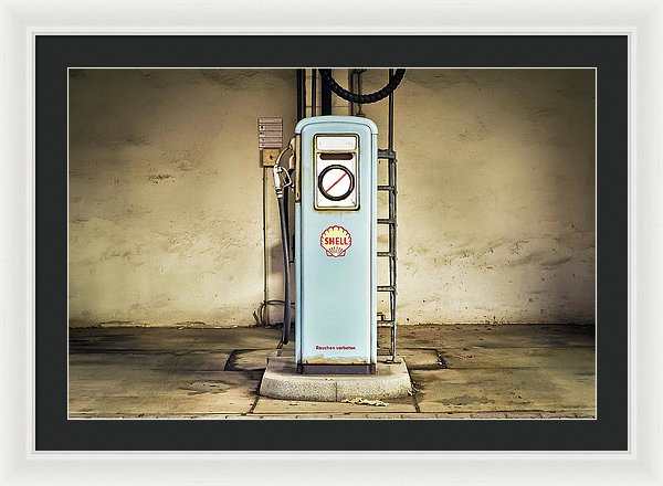 Vintage Gas Pump - Framed Print from Wallasso - The Wall Art Superstore