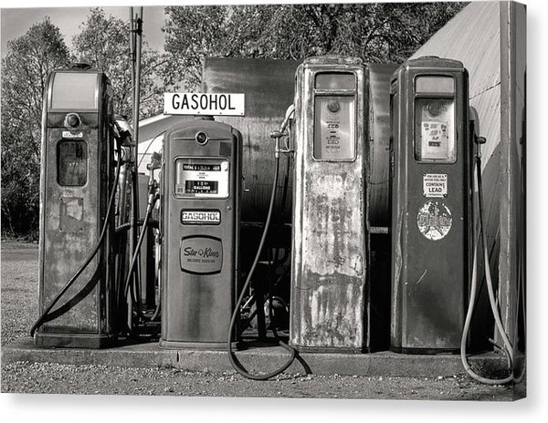 Vintage Gas Pumps - Canvas Print from Wallasso - The Wall Art Superstore