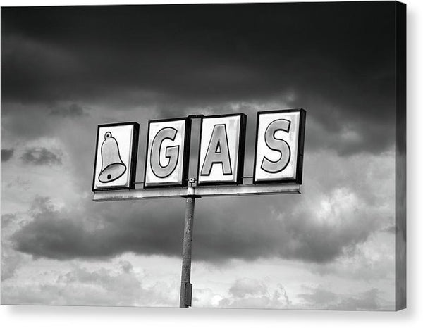 Vintage Gas Station Sign - Canvas Print from Wallasso - The Wall Art Superstore