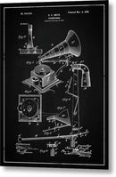 Vintage Gramophone Patent, 1900 - Metal Print from Wallasso - The Wall Art Superstore