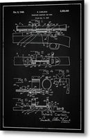 Vintage Gun Scope Patent, 1948 - Metal Print from Wallasso - The Wall Art Superstore