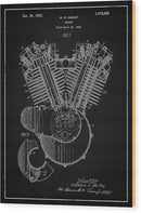 Vintage Harley Davidson Engine Patent, 1923 - Wood Print from Wallasso - The Wall Art Superstore