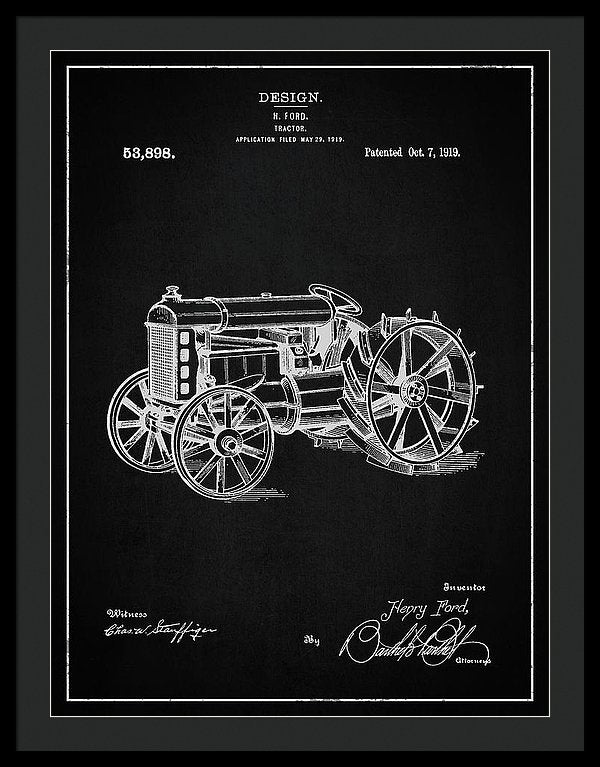 Vintage Henry Ford Tractor Patent, 1919 - Framed Print from Wallasso - The Wall Art Superstore