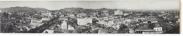 Vintage Hollywood California Panorama, 1929 - Wood Print from Wallasso - The Wall Art Superstore