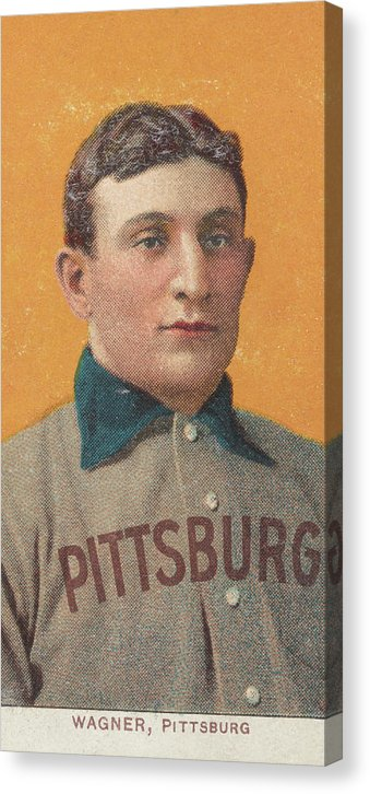 Vintage Honus Wagner Baseball Card, 1909 - Canvas Print from Wallasso - The Wall Art Superstore