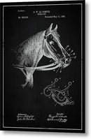 Vintage Horse Bridle Patent, 1897 - Metal Print from Wallasso - The Wall Art Superstore