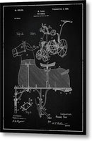 Vintage Horse Riding Push Toy Patent, 1900 - Metal Print from Wallasso - The Wall Art Superstore