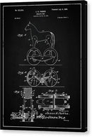 Vintage Horse Toy Patent, 1899 - Canvas Print from Wallasso - The Wall Art Superstore