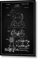 Vintage Horse Toy Patent, 1899 - Metal Print from Wallasso - The Wall Art Superstore
