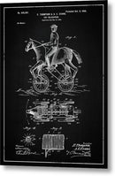 Vintage Horse and Rider Toy Patent, 1900 - Metal Print from Wallasso - The Wall Art Superstore