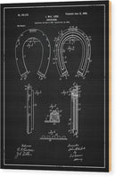 Vintage Horseshoe Patent, 1900 - Wood Print from Wallasso - The Wall Art Superstore
