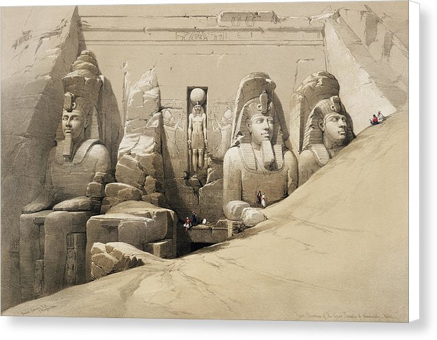 Vintage Illustration of Ancient Egyptian Statues, 1850 - Canvas Print from Wallasso - The Wall Art Superstore