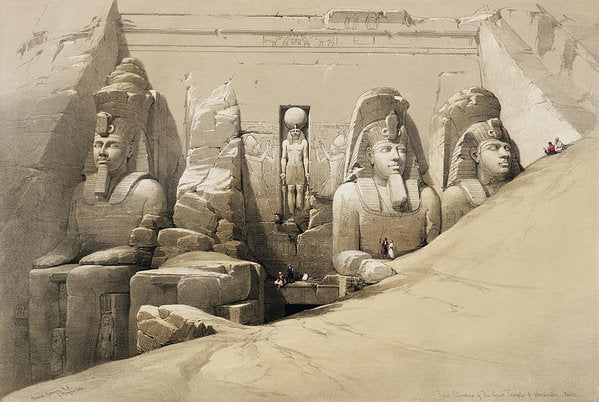 Vintage Illustration of Ancient Egyptian Statues, 1850 - Art Print from Wallasso - The Wall Art Superstore