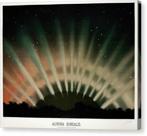Vintage Illustration of Aurora Borealis, 1881 - Canvas Print from Wallasso - The Wall Art Superstore