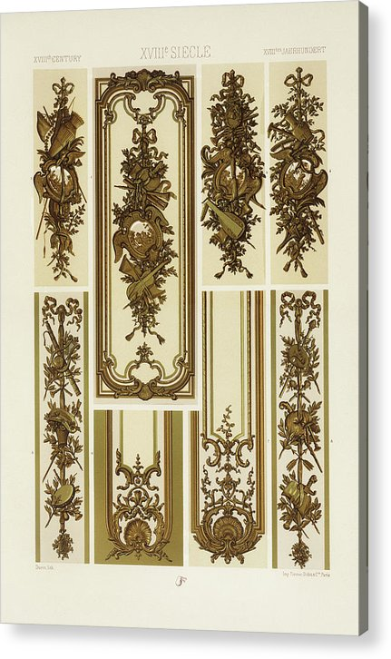 Vintage Illustration of Decorative Patterns - Acrylic Print from Wallasso - The Wall Art Superstore