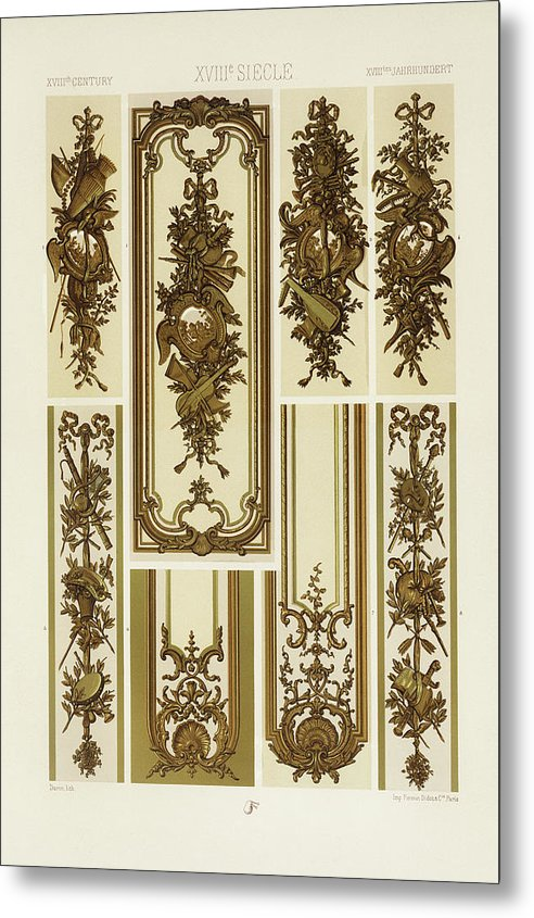 Vintage Illustration of Decorative Patterns - Metal Print from Wallasso - The Wall Art Superstore